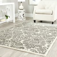 Safavieh Porcello Glam Damask Grey/ Ivory Rug (4' x 5'7)