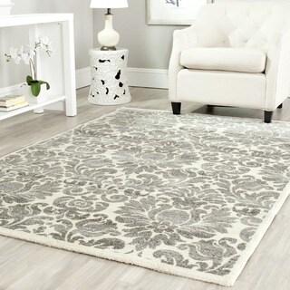 Safavieh Porcello Damask Grey/ Ivory Rug (4' x 5' 7)