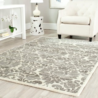 Safavieh Porcello Glam Damask Grey/ Ivory Rug (5'3 x 7'7)