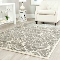 Safavieh Porcello Glam Damask Grey/ Ivory Rug (6'7 x 9'6)