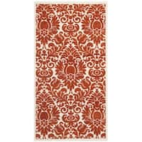 Safavieh Porcello Damask Red/ Ivory Rug - 2' x 3'7'