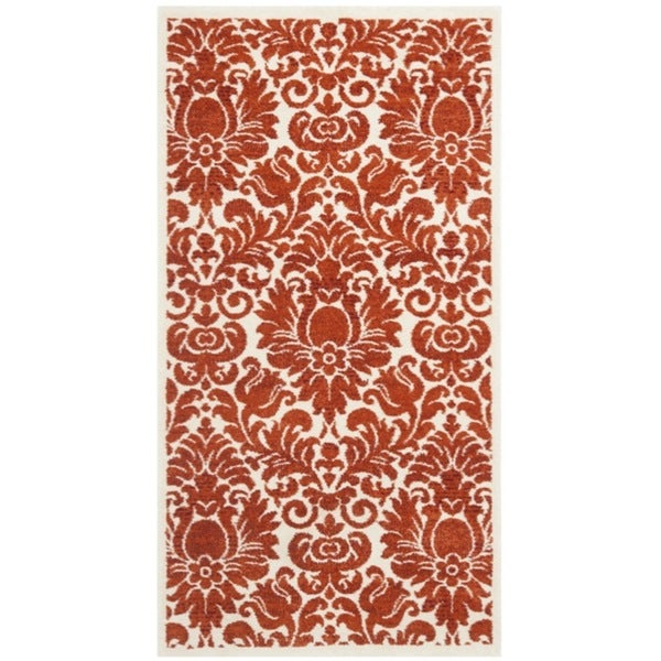 Safavieh Porcello Damask Red/ Ivory Rug (2' x 3'7)