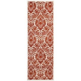 Safavieh Porcello Damask Red/ Ivory Rug (2'4 x 6'7)