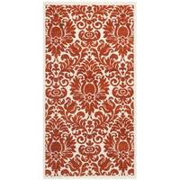 Safavieh Porcello Damask Red/ Ivory Rug - 2'7 x 5'