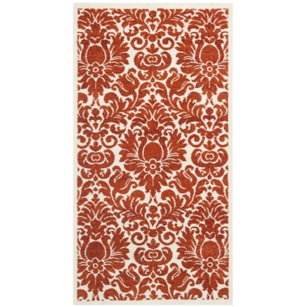 Safavieh Porcello Damask Red/ Ivory Rug (2'7 x 5')