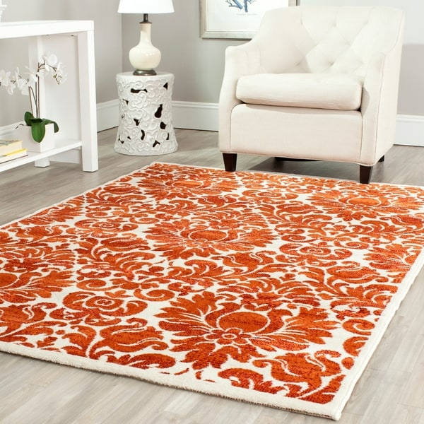 Safavieh Porcello Damask Red/ Ivory Rug - 5'3' x 7'7'