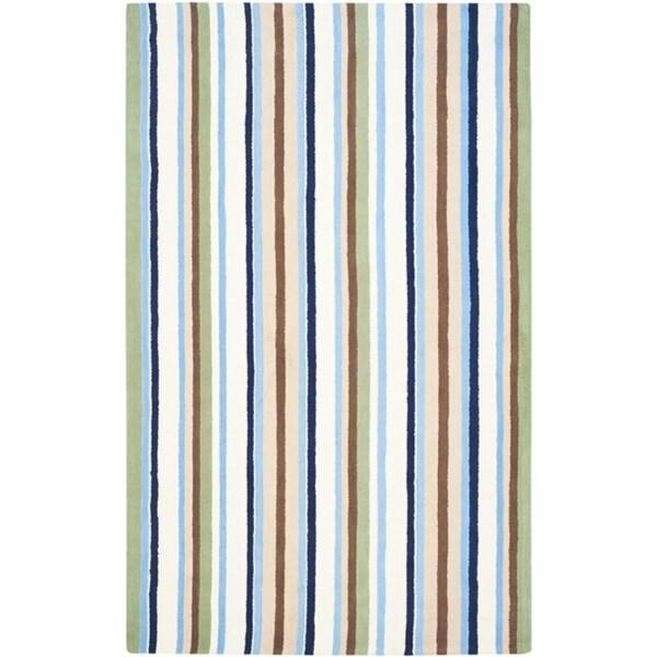 Safavieh Handmade Children's Stripes Cotton Rug - 8' x 10'
