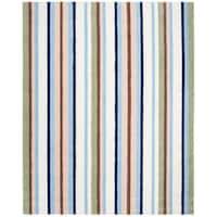Safavieh Handmade Children's Stripes Cotton Rug - multi-color - 8' x 10'