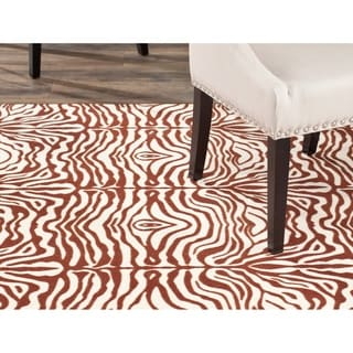Safavieh Metropolis Tiger Cream/ Brown Rug (4'7 x 6'6)