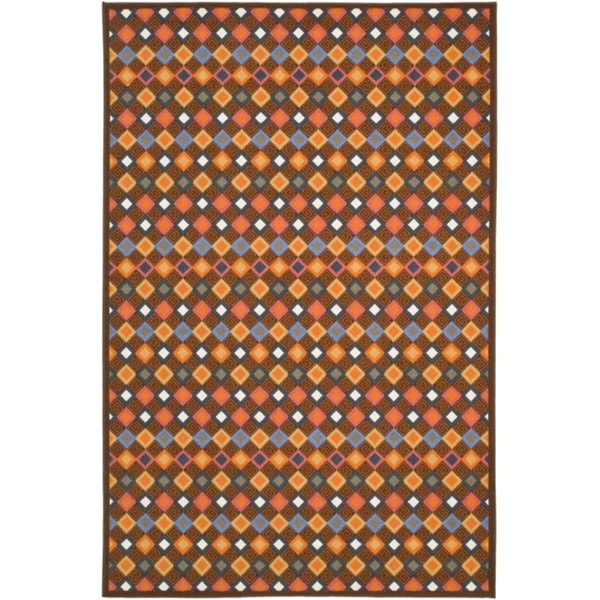 Safavieh Metropolis Diamonds Brown Rug (3'3 x 5')