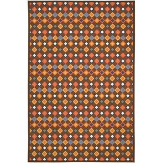 Safavieh Metropolis Diamonds Brown Rug (4'7 x 6'6)