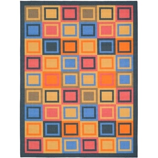 Safavieh Metropolis Blocks Blue Rug (4'7 x 6'6)
