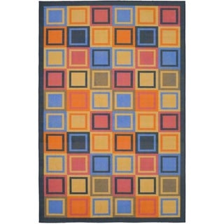 Safavieh Metropolis Blocks Blue Rug (5'3 x 7'11)