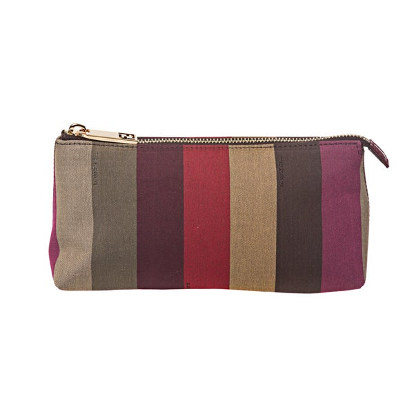 e5776fea7c0c ... france fendi pequin striped cosmetic bag cb580 97354