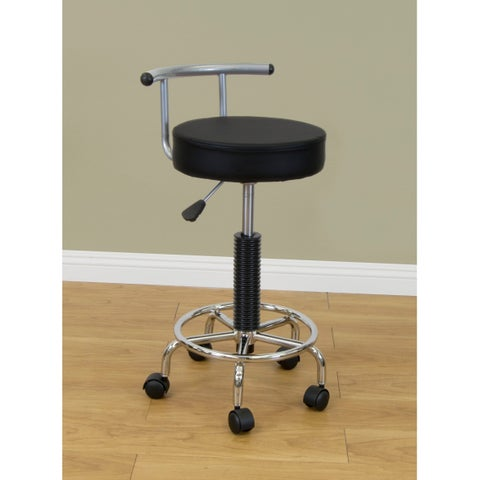 Studio Designs Futura Silver/ Black Stool
