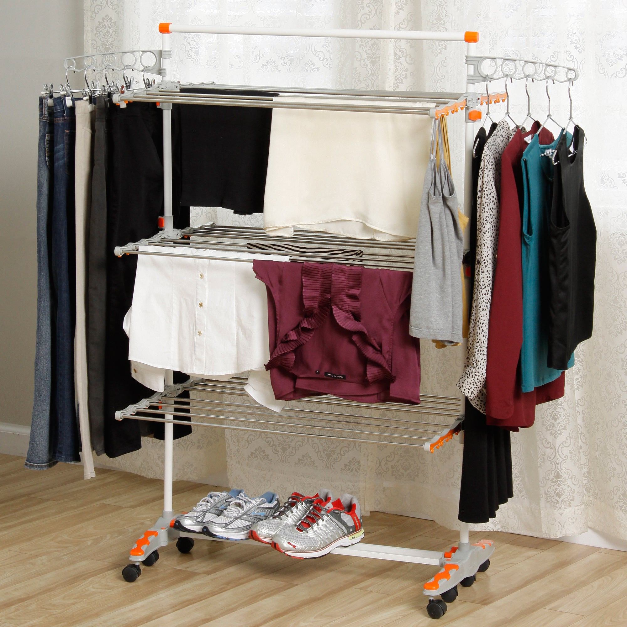 Badoogi Foldable Heavy Duty and Compact Storage Drying Ra...