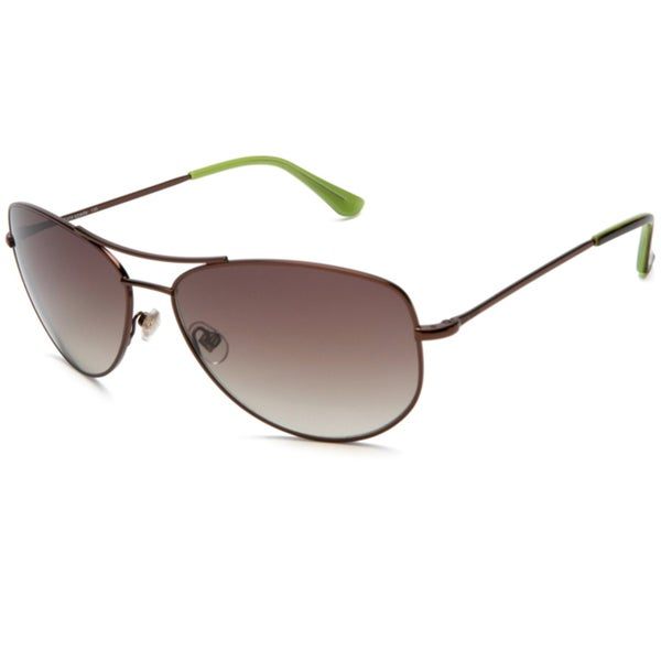 Kate Spade Ally 3 P40 Brown & Havana Womens Metal Aviator Sunglasses