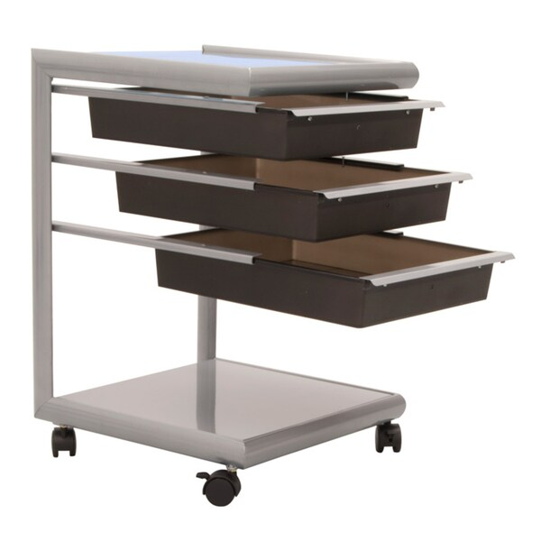 Studio Designs Silver Futura Mobile Storage Cart