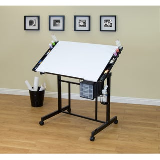 Studio Designs Deluxe Drafting Table (Option: Black / White)
