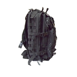 Black 3-day Assault Pack Durable Nylon Backpack with Foam Padded Strap