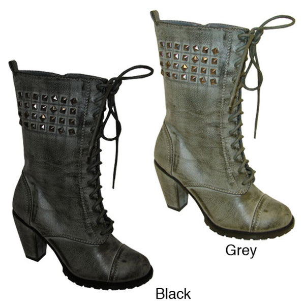 Bucco 'Odessa' Women's Stud-embellished Ankle Boots