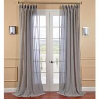 Exclusive Fabrics Nickel Faux Linen Sheer Curtain Panel