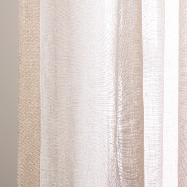 Exclusive Fabrics Tumbleweed Faux Linen Sheer Curtain Panel   Free Shipping  On Orders Over $45   Overstock.com   14668436