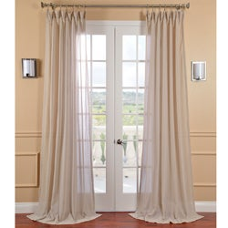 EFF Tumbleweed Faux Linen Sheer Curtain Panel (As Is Item)