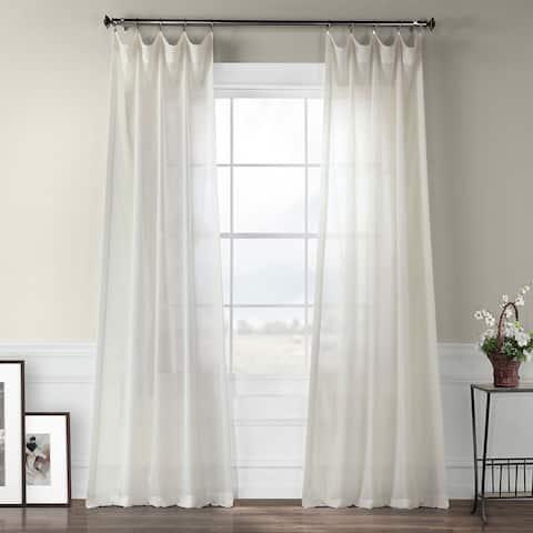 Exclusive Fabrics Gardenia Faux Linen Sheer Curtain Panel