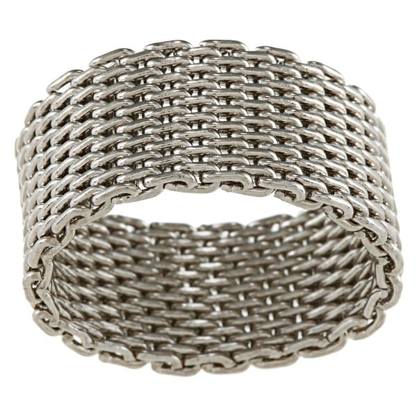 City by City City Style Silvertone Mesh Ring