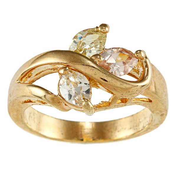 City by City City Style Goldtone Clear Cubic Zirconia Ring