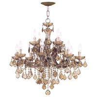 Crystorama Maria Theresa Collection 12-light Antique Brass Chandelier