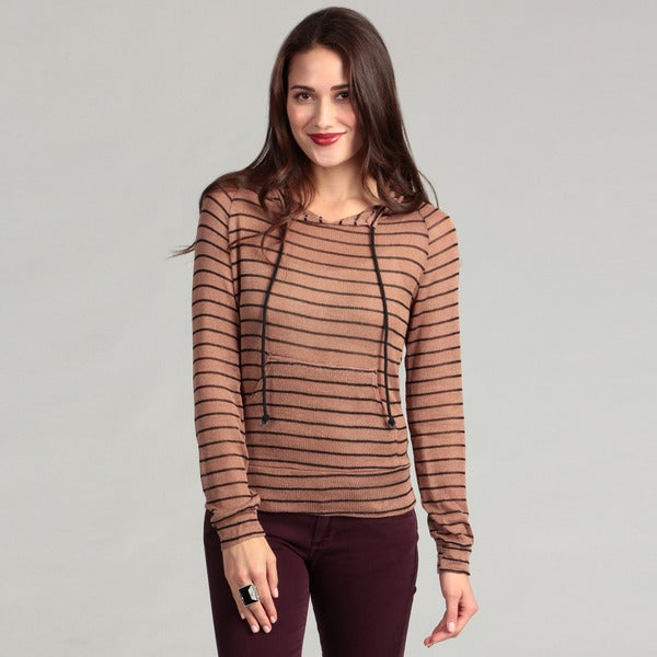 Institute Liberal Women's Pull Over Striped Hoodie