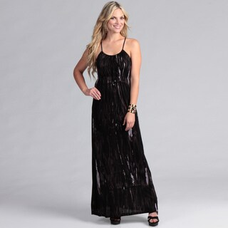 Institute Liberal Women's Black Tye Dye Maxi Dress