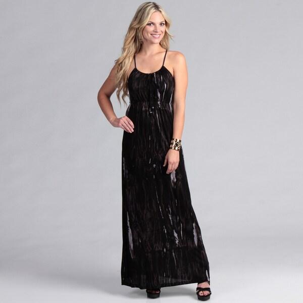 Institute Liberal Women's Black Tye Dye Maxi Dress