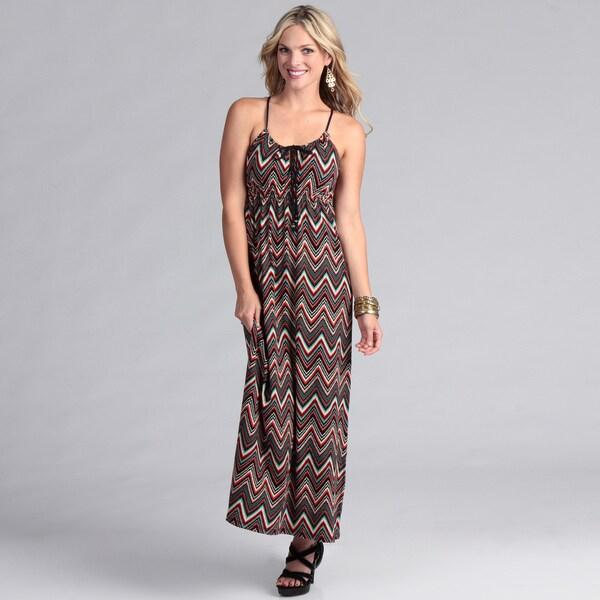 Institute Liberal Women's Beaded Strap Jersey Maxi Dress