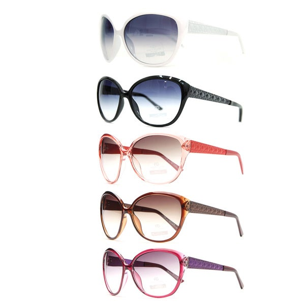 Dasein by Anais Gvani Oversized Quilt-like Fashion Sunglasses