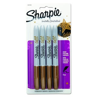 Sharpie Metallic Permanent Markers 4/Pkg-Gold
