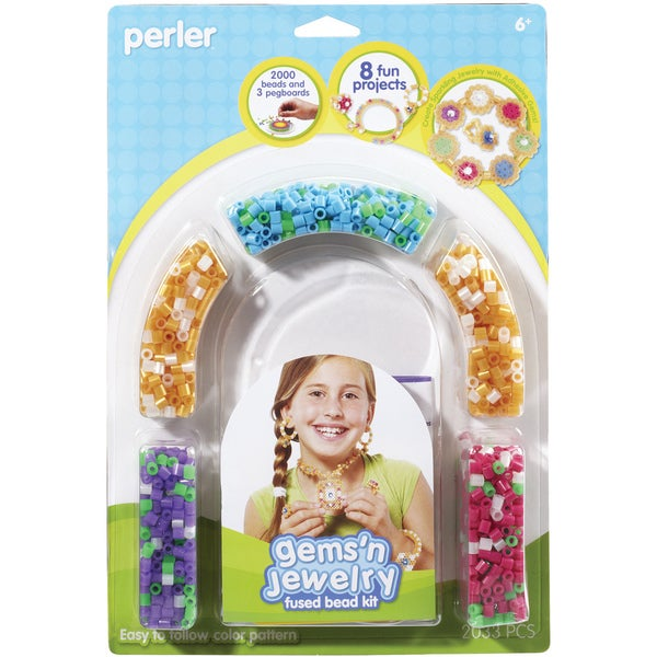 Perler Fun Fusion Fuse Bead Activity Kit-Gems 'n Jewelry