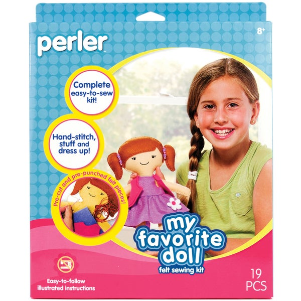 Perler Felt My Favorite Doll Pre-cut and Pre-punched Sew & Stuff Kit