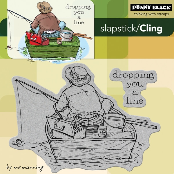 Penny Black 'Dropping You A Line' Cling Rubber Stamp