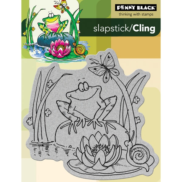 Penny Black 'Toadily Happy' Cling Rubber Stamp