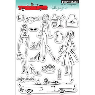 Penny Black 'Hello Gorgeous' Clear Stamps