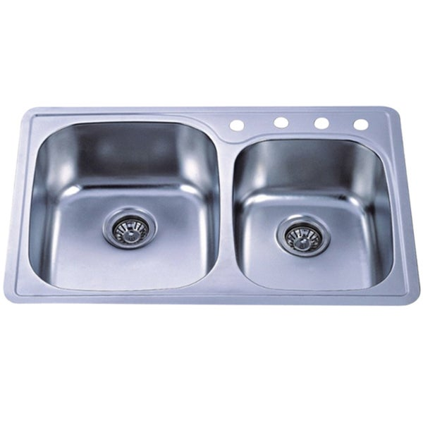 Shop Self Rimming Double Bowl Kitchen Sink Free Shipping