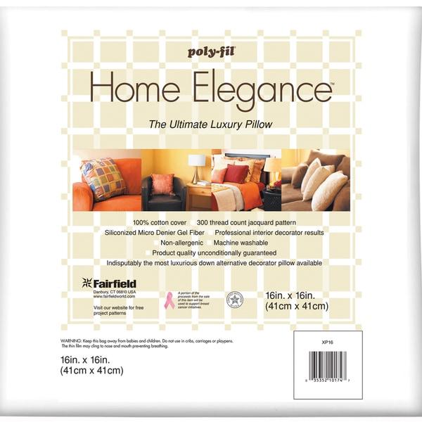 """Home Elegance Pillow 16""""X16""""-White FOB:MI"""