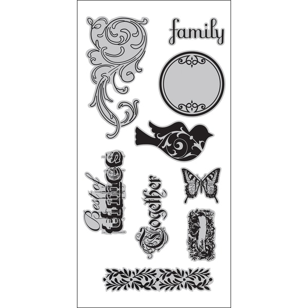 """7 Gypsies Cling Stamps 4""""X9"""" Sheet-Best Of Times"""