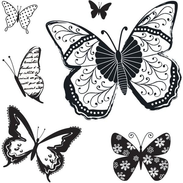 """I Cling Stamps 5""""X5"""" Sheet-Butterflies"""