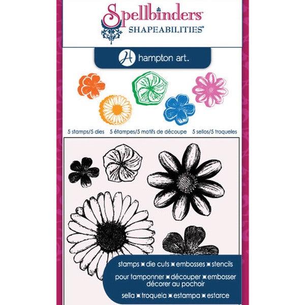Spellbinders Stamp & Die Set-Cling - Flowers