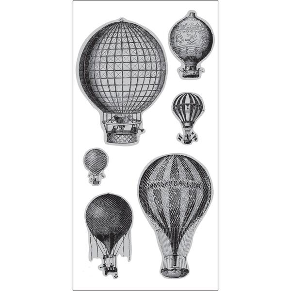 """Doodlebug 4""""X9"""" Cling Stamp-Hot Air Balloons"""