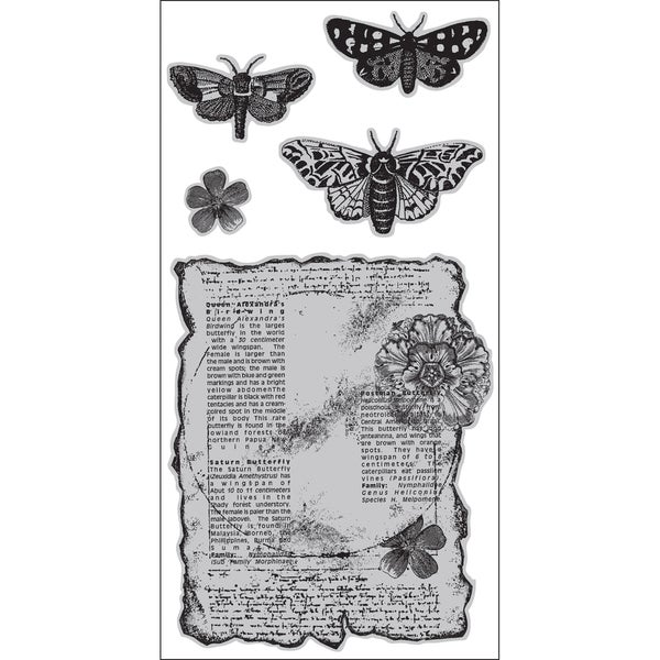 """Diffusion Cling Stamps 4""""X9"""" Sheet-Butterflies Are Free"""